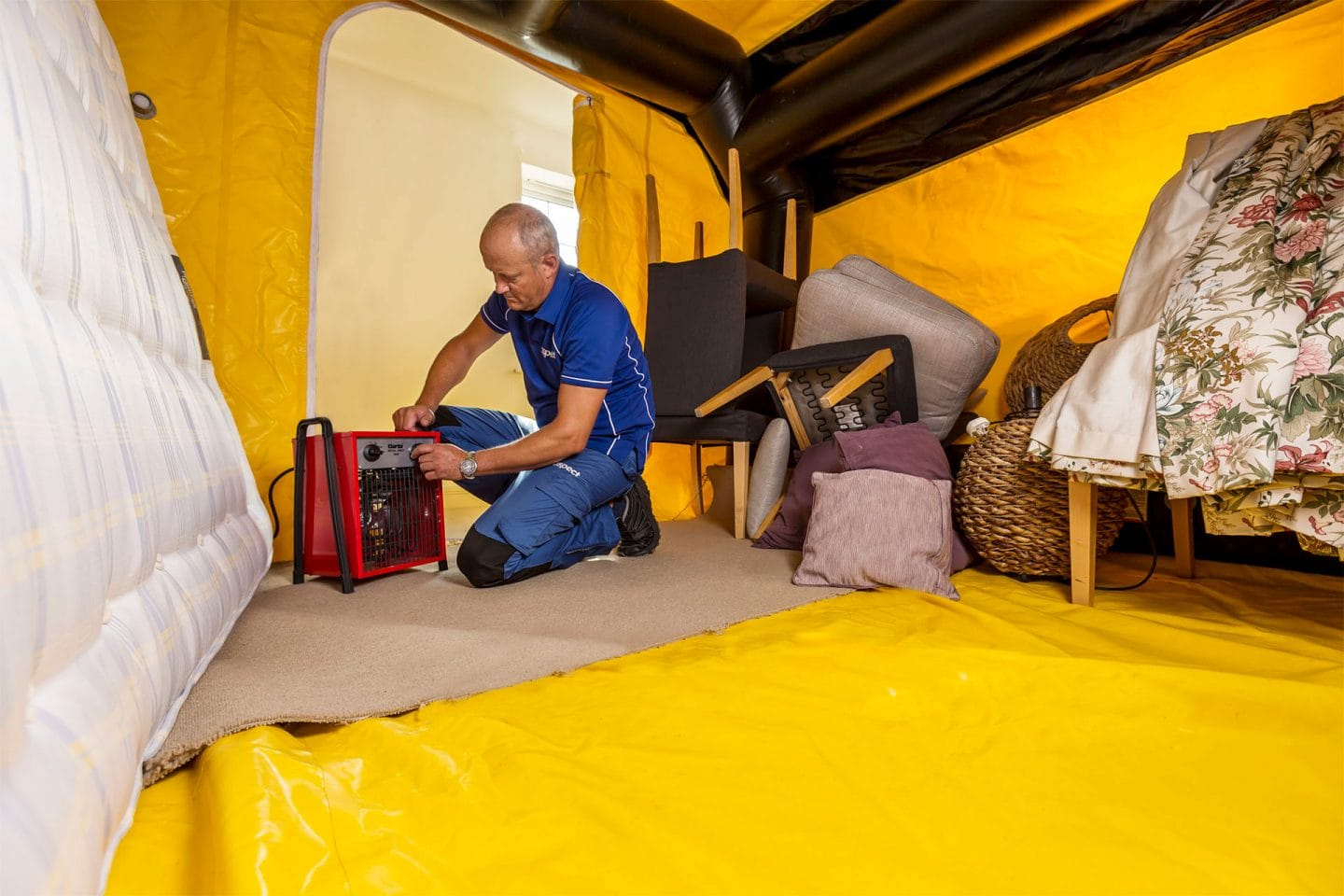 Bed bug specialist heat treatment