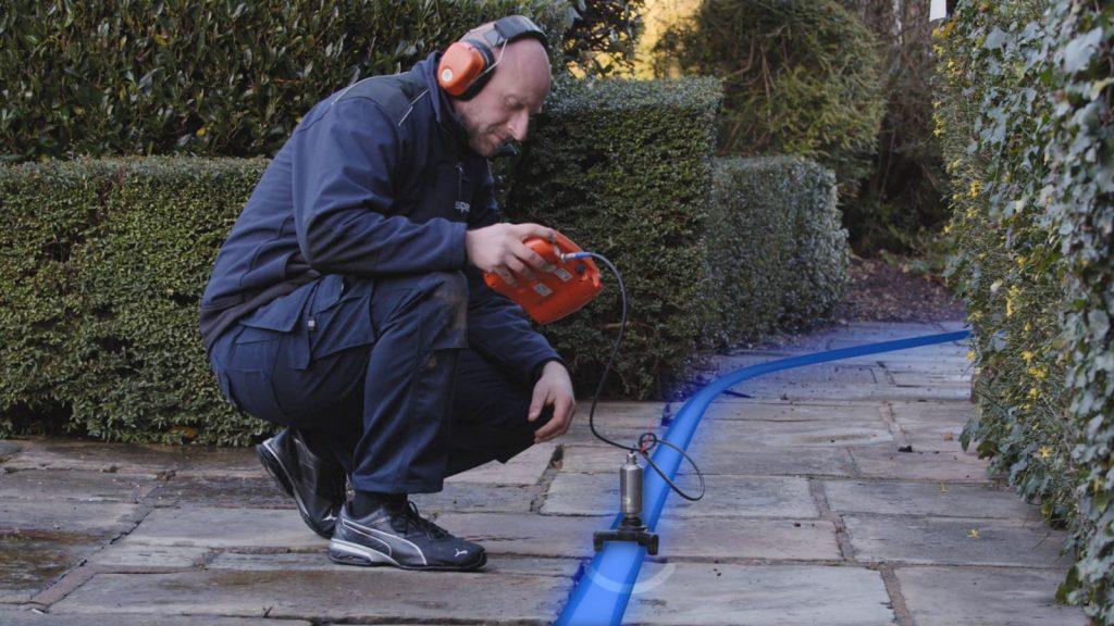 Finding underground water leaks